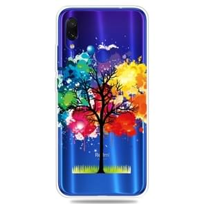 For Xiaomi Redmi Note 7 Pro / Redmi Note7    3D Pattern Printing Extremely Transparent TPU Phone Case(Painting Tree)