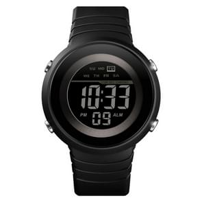 SKMEI 1497 Fashion Simple Backlight Single Display Electronic Watch Timing Alarm Watch(Black  )