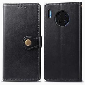 Voor Huawei mate 30 Hat-Prince Litchi textuur horizontale Flip lederen draagtas met kaartsleuven zwart