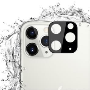 Voor iPhone 11 Pro Max 2st mocolo 0.15 mm 9H 2.5 D ronde rand Achteruitrij camera lens gehard glas film (zwart)