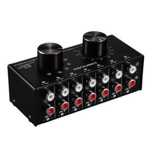 B016 6 ingang 1 uitgang audio signaalbron selectie Switcher  uitgang volume aanpassing controle RCA-poort