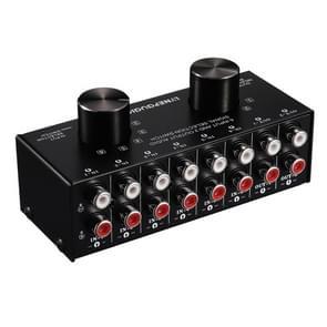 B026 6 ingang 2 uitgang of 2 ingang 6 uitgang audio signaalbron selectie switcher RCA-poort