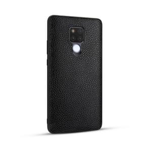 For Huawei Mate 20 / Mate 20X Lychee Grain Cortex Anti-falling TPU Mobile Phone Shell Protective Case(Black)