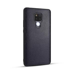 For Huawei Mate 20 / Mate 20X Lychee Grain Cortex Anti-falling TPU Mobile Phone Shell Protective Case(Deep blue)