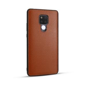 Voor Huawei mate 20/mate 20X Lychee graan cortex anti-Falling TPU mobiele telefoon shell beschermende case (bruin)