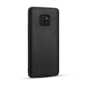 Voor Huawei Mate20 Pro Lychee graan cortex anti-Falling TPU mobiele telefoon shell beschermende case (zwart)