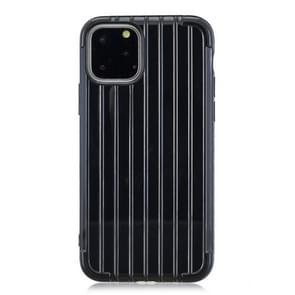 For iPhone 11 Pro Coloured Suitcase Striped Mobile Phone Case(Black)