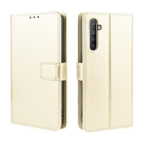 For  Oppo Realme XT / Realme X2 / K5 Retro Crazy Horse Texture Horizontal Flip Leather Case with Holder & Card Slots & Photo Frame(Gold)