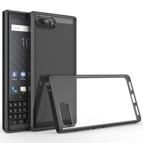 For BlackBerry KEY2 Scratchproof TPU + Acrylic Protective Case(Black)