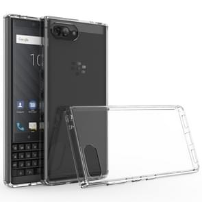 For BlackBerry KEY2 Scratchproof TPU + Acrylic Protective Case(Transparent)