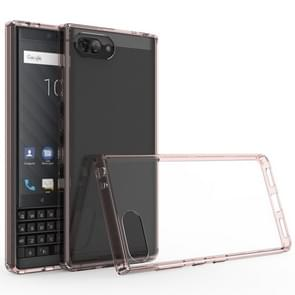 For BlackBerry KEY2 Scratchproof TPU + Acrylic Protective Case(Pink)