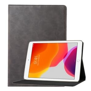 For Apple iPad 10.2   ENKAY Stand Folio Cover Leather Smart Case with Auto Sleep / Wake-up Function(Grey)
