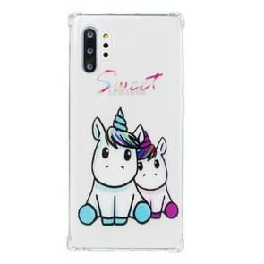 Voor Galaxy Note 10 plus olie reliëf patroon anti-drop TPU case (Sweet)