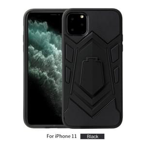 For iPhone 11   Shockproof TPU + PC Protective Case with Holder(Black)