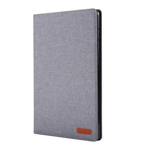 For Galaxy Tab S6 / T860 / T865 Cloth Teature Horizontal Flip PU Leather Case with with Holder & Card Slots & Pen Slot(Gray)