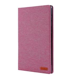 For Galaxy Tab S6 / T860 / T865 Cloth Teature Horizontal Flip PU Leather Case with with Holder & Card Slots & Pen Slot(Rose Red)