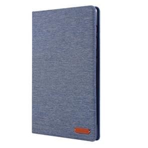Voor Galaxy tab S6/T860/T865 doek Teature horizontale Flip PU lederen draagtas met houder & kaartsleuven & pen sleuf (donkerblauw)
