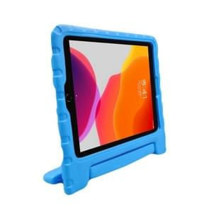 For iPad Air (2019) EVA Bumper Protective Case with Handle & Holder (Blue)