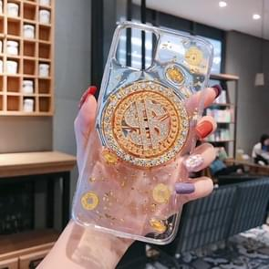 For iPhone 11 Rotating Money More Relief Device Phone Case(Transparent)