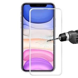 For iPhone 11 / iPhone XR Hat-Prince 0.2mm 9H Surface Hardness 3D Titanium Alloy Curved Edge Explosion-proof Tempered Glass Screen Protector(Silver)