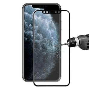 For iPhone 11 Pro / iPhone XS / iPhone X Hat-Prince 0.2mm 9H Surface Hardness 3D Titanium Alloy Curved Edge Explosion-proof Tempered Glass Screen Protector(Black)