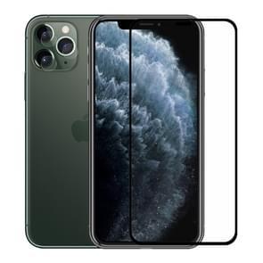 Voor iPhone 11 Pro Max Hat-Prins 2 in 1 volledige lijm 0.26 mm 9H 2.5 D gehard glas volledige dekking beschermer + 0.2 mm 9H 2.15 D ronde rand achterste camera lens gehard glas film