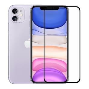 For iPhone 11 Hat-Prince 2 in 1 Full Glue 0.26mm 9H 2.5D Tempered Glass Full Coverage Protector + 0.2mm 9H 2.15D Round Edge Rear Camera Lens Tempered Glass Film