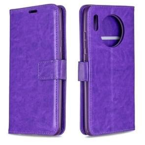 Voor Huawei mate 30 Crazy Horse textuur horizontale Flip lederen draagtas met houder & kaartsleuven & portemonnee & fotolijstjes (paars)