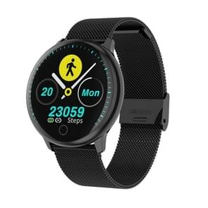 Q16 1.22inch IPS Color Screen Smart Watch IP67 Waterproof,Metal Watchband,Support Call Reminder /Heart Rate Monitoring/Blood Pressure Monitoring/Sleep Monitoring(Black)