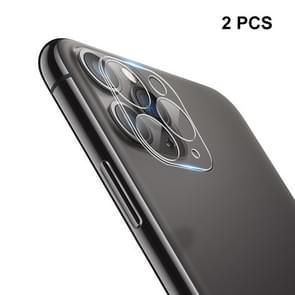 2 stk ENKAY Hat-Prins 9H achterste camera lens gehard glas film volledige dekking beschermer voor iPhone 11 Pro/11 Pro Max
