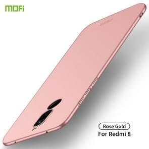 For Xiaomi RedMi 8 MOFI Frosted PC Ultra-thin Hard Case(Rose gold)