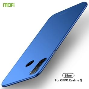 For OPPO Realme Q MOFI Frosted PC Ultra-thin Hard Case(Blue)