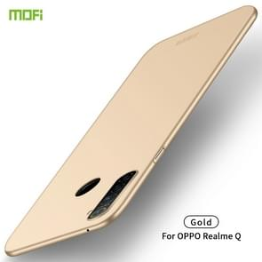 For OPPO Realme Q MOFI Frosted PC Ultra-thin Hard Case(Gold)