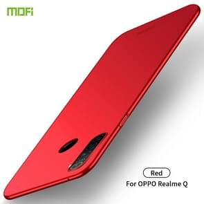 For OPPO Realme Q MOFI Frosted PC Ultra-thin Hard Case(Red)