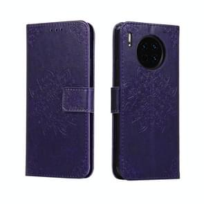 For Huawei Mate 30 Embossed Kaleidoscope Flower Horizontal Flip Leather Case with Holder & Card Slots & Wallet(Purple)