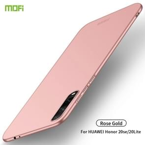 For Huawei Honor 20 Lite MOFI Frosted PC Ultra-thin Hard Case(Rose Gold)