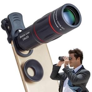 DSDZ-18XWYJCell-telefoonlens Universele 18x optische zoomlens handmatige telescooplens met klem