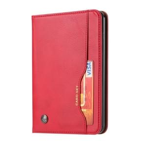 For kindle 2019 Knead Skin Texture Horizontal Flip Leather Case with Photo Frame & Holder & Card Slots & Wallet(Red)