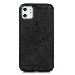 For iPhone 11, The Rose Mandala Pattern PC + TPU + PU Phone Case(Black)