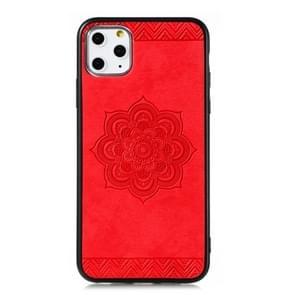 Voor iPhone 11 Pro  de Rose Mandala patroon PC + TPU + PU telefoon geval (rood)
