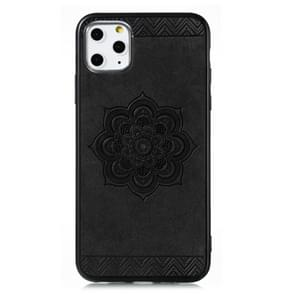 For iPhone 11 Pro Max  The Rose Mandala Pattern PC + TPU + PU Phone Case(Black)