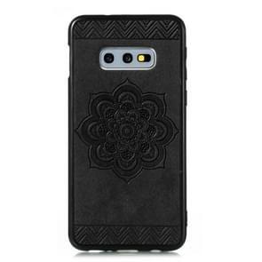 For Galaxy S10e / S10 Lite  Rose Mandala Pattern PC + TPU + PU Phone Case(Black)