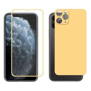 For iPhone 11 Pro ENKAY Hat-prince Full Glue 0.26mm 9H 2.5D Front Tempered Glass Full Coverage Film and Black Film with Camera Lens Protector Function(Gold)