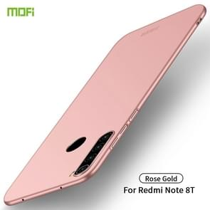 For Xiaomi RedMi Note8T MOFI Frosted PC Ultra-thin Hard Case(Rose gold)
