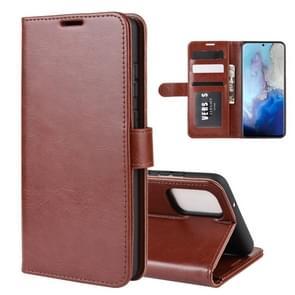 Voor Galaxy S11e R64 textuur één horizontale Flip beschermende case met houder & kaartsleuven & portemonnee & fotolijstjes (bruin)
