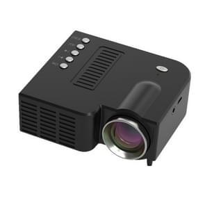 UC28C mini draagbare projector familie LED kleine mobiele telefoon projector voor kinderen (zwart)