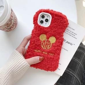 Voor iPhone 11 Pro kleine taille-Mickey hoofd Happy New Year telefoon geval