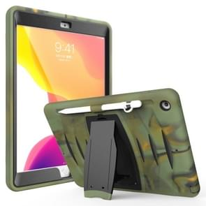 For Galaxy Tab S6 10.5 T860/T865/T867 2019 360 Degree Rotation PC + Silicone Protective Case with Holder & Hand-strap(Camouflage)
