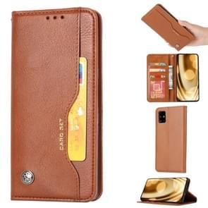 Voor Galaxy S11e Knead huidtextuur horizontale Flip lederen draagtas met foto frame & houder & kaartsleuven & portemonnee (bruin)