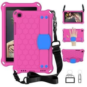 Voor Galaxy Tab A8.0 T290 / T295(2019) Honeycomb Design EVA + PC Four Corner Anti Falling Flat Protective Shell With Straps (Rose+Blue)